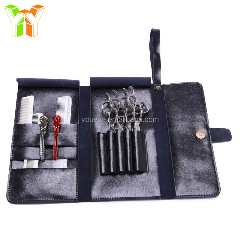 2017 Fashionable Leather Hairdressing Scissor Cases Pouches Holsters for Barber