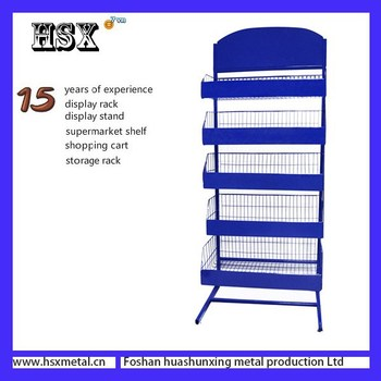 metal wire wall mounted metal spice rack for supermarket hsxp401