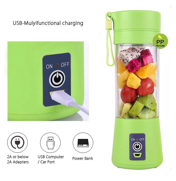 De Mini Usb recargable eléctrico portátil de batido de frutas licuadora mezclador exprimidor
