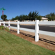 beautiful designed plastic pvc horse rail farm fence and fence post