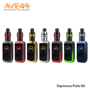 2018 New trending Vaporesso POLAR Cascade Baby SE Kit 220W with 2 Colors Display LED Screen