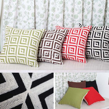 Fashion cheap price bright handmade embroidery geometric cushion cover wholesale A143