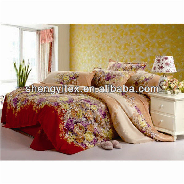 100% polyester bedspreads fabric for bedding set