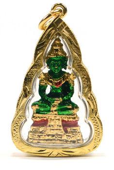 Thailand amulets thai amulet gold plated base designer locket thailand amulets thai amulet gold plated base designer locket necklaces emerald buddha aloadofball Choice Image