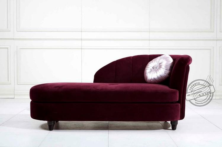 Purple Velvet Sofa Chaise Lounge