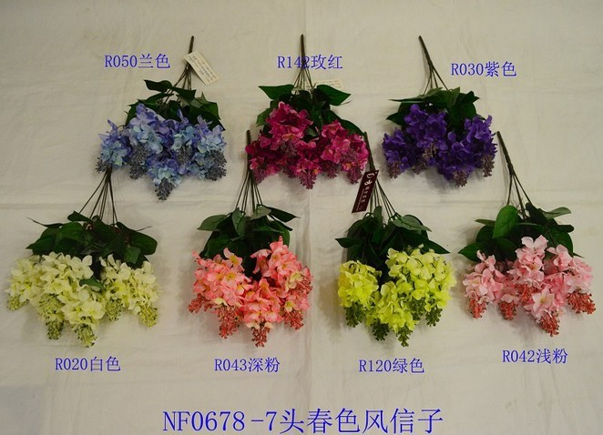 high quality artificial silk 7 heads spring hyacinth bouquets 7 colors available wedding bouquets home docoration free shipping