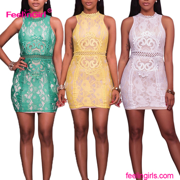Chinese Paper Cut Design Lace Bodycon Dress Fat Women Plus Size
