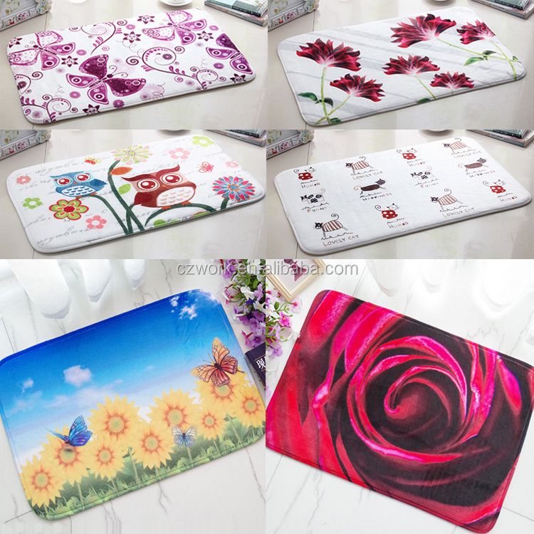New Design Flannel Home Decoration Living Room Kitchen Price Custom Floor Mat