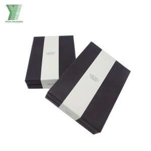 #SuperYF Purcahse Festival Customized Black wallet gift cardboard paper packaging box with Black EVA cutting inner