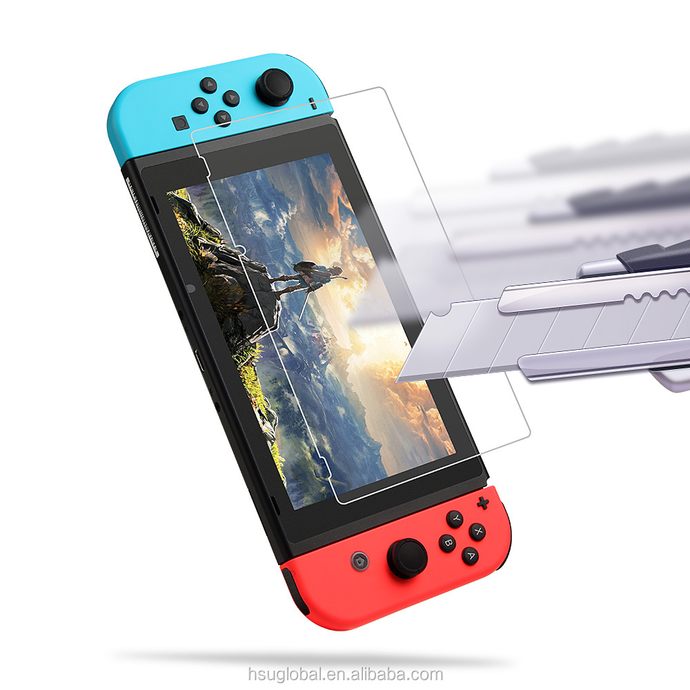2 Pack 9H Hardness Anti Shock Tempered Glass Screen Film Protector for Nin tendo Switch