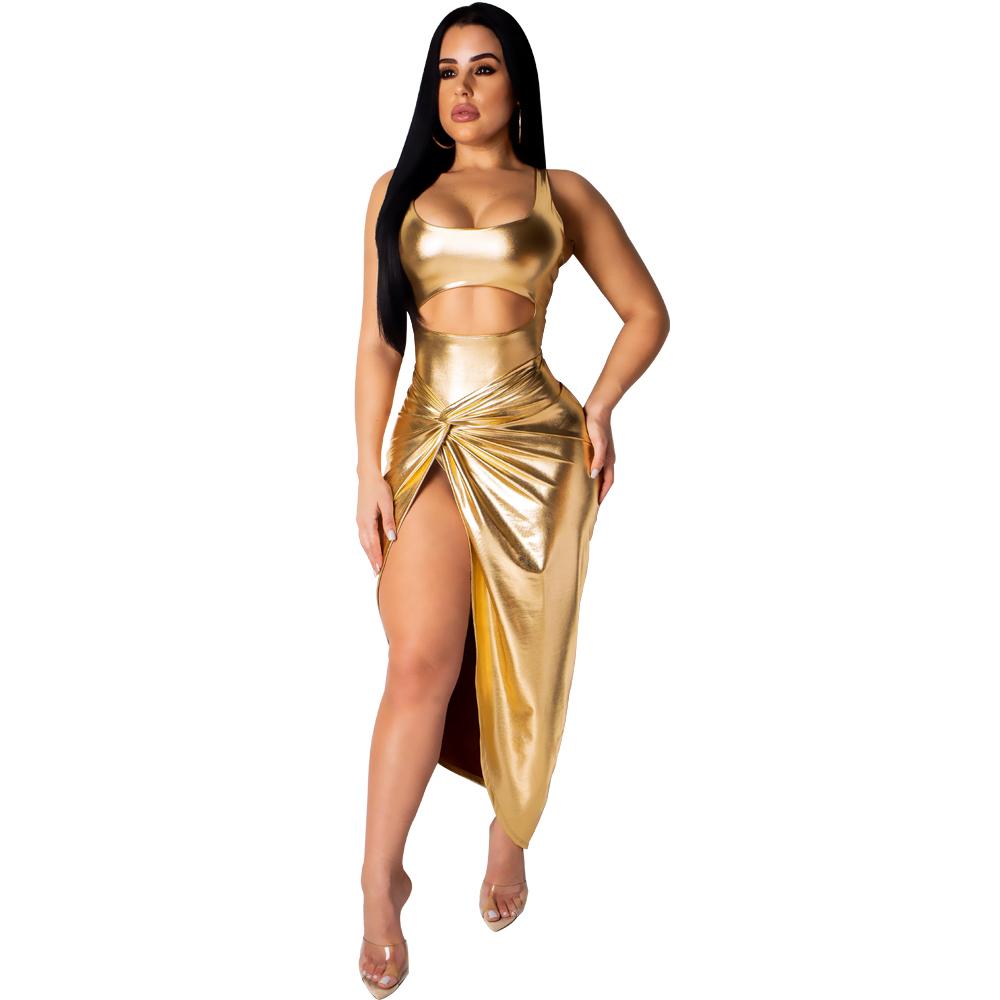 Venta Al Por Mayor Vestidos Color Dorado Para Damas Compre