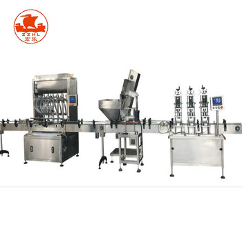 Chili sauce letinous edodes sauce bottle filling and packing machine production line