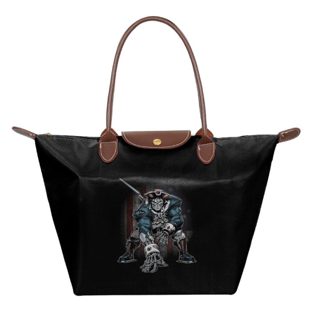 d5e66a53b1 Get Quotations · Womens Patriots TB12 Dominator Flag Black Top Handle  Handbag Shoulder Bags Tote Bag