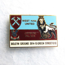 Custom design hard enamel baseball pins west ham united gold lion trading pins No MOQ fast shipping