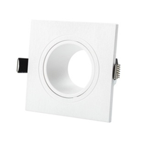 Adjustable 2.5inch square MR16 GU10 housing frame mr16 fixture down light housing