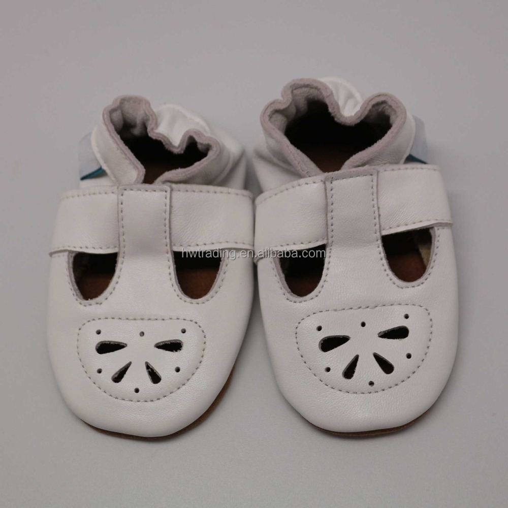 Sheep skin upper cow suede leather baby shoes