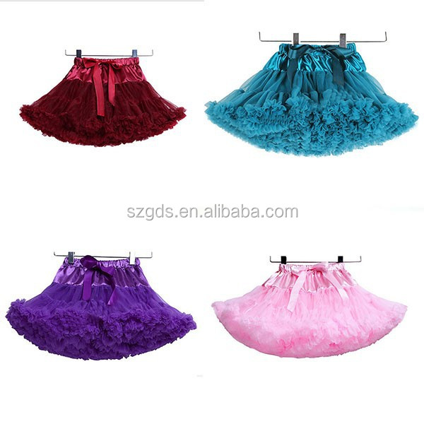 In stock hot Girls Dance Tutu Skirt, girls puffy tutu, girls tutu skirt short mini colorful chiffon skirt whoesale