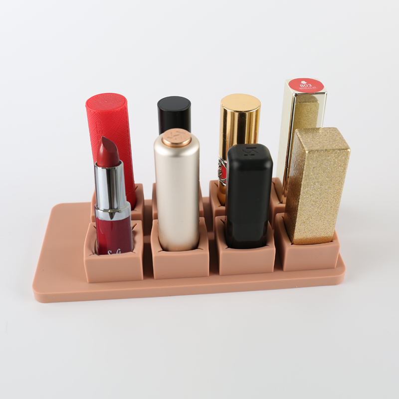 8 Spaces Lipgloss Display Board Small Stand Travel Storage Lipstick Makeup Organizer