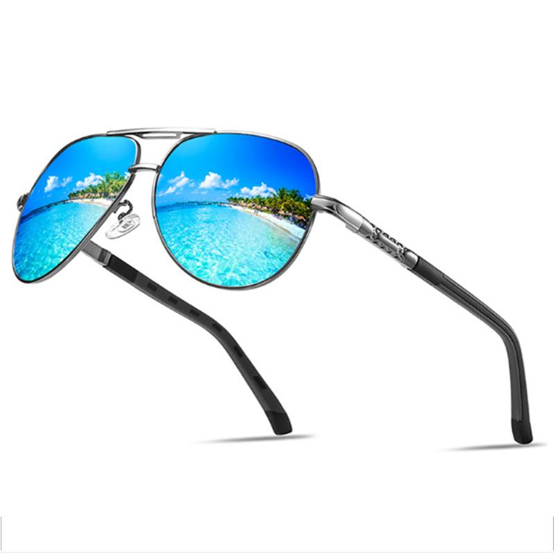S8022 Brand your own private label classic sunglasses men polarized big vision sun glasses