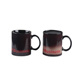 Sublimation Magic Mug 11oz Blank Black Color Changing Matte Mug Ceramic Heat Transfer Mug