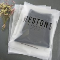 Custom Matte Print Pe Ziplock Poly Zip Lock Frosted Plastic Packaging Bag For Clothes