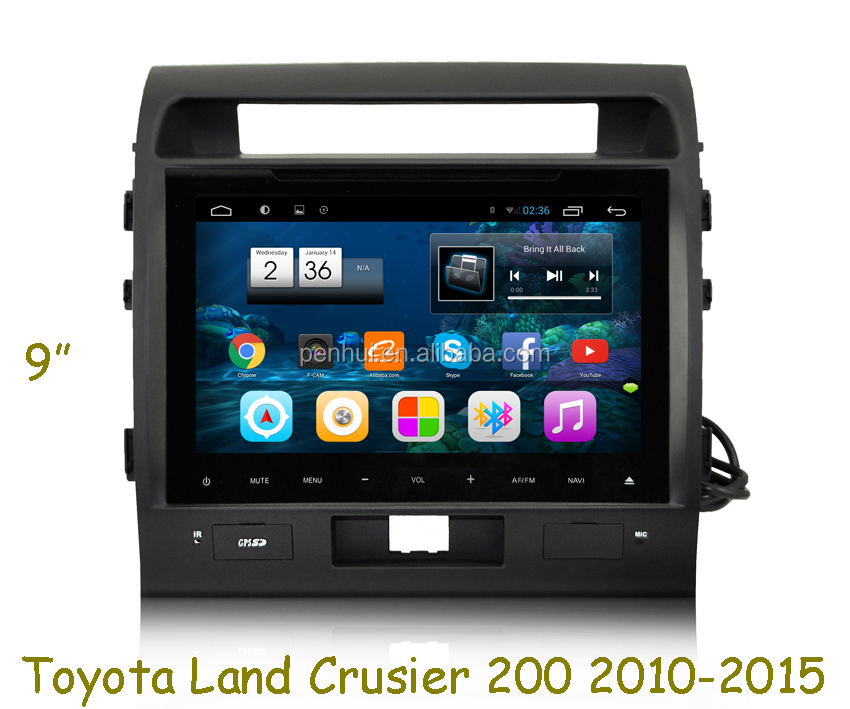 Pure android 6.0 Car PC GPS for <strong>Toyota</strong> Land cruiser 200 with Capacitive screen WITH GPS ,SUPPORT 3G,WIFI