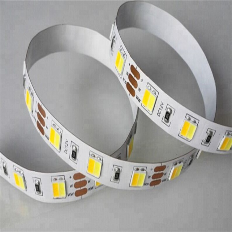 Dual 흰 CCT 동조 디 밍 led 빛 strip dual color smd 5050 cct led strip