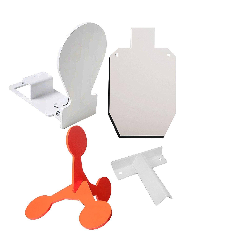 "RMP Target Kit - 1) Spring Load Target 1) Large 4.5"" Orange Tumble Target, 1) 15-1/8"" X 9-1/4"" White Silhouette, 1) Slip Fit ""T"" Post Target Bracket, 2) 3/8-16 Hexhead Bolts, 2) 3/8"" Hex Nuts"