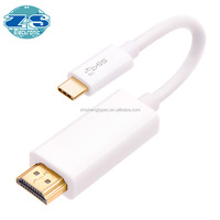 type c to usb 3 0 White TYPE-C male 3.1 to HD male cable