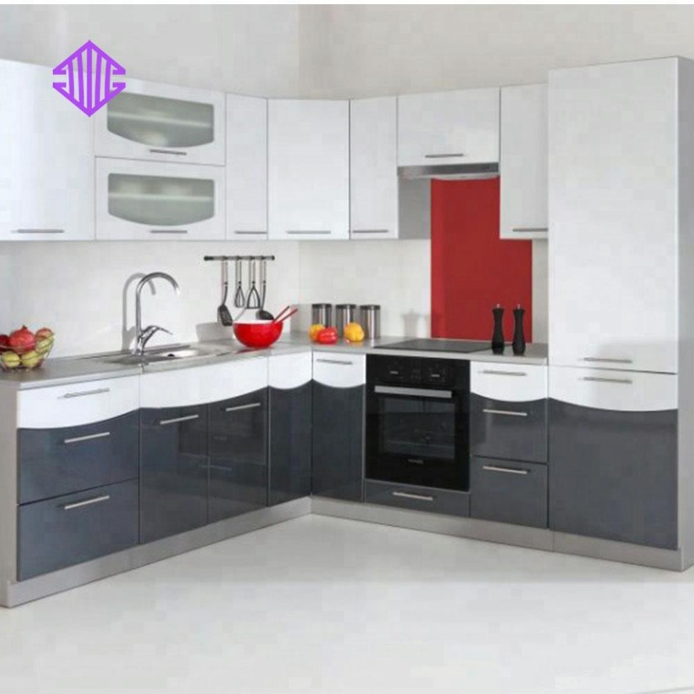 2018 Modular American Solid Wood L Shaped Kitchen Cabinets With Dark Wooden Color Buy Prefabricated I Shape Kitchen Cabinate I Shape Kitchen