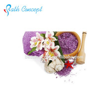flower scents natural herbal colorful bath salt