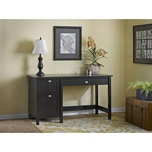 Office Desk Furniture, Office Desk Organizer, Computer Desks, Student Desks, Writing Desks, Broadview Single Pedestal Desk In Espresso Oak Finish