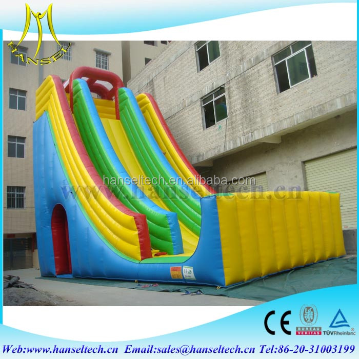 Hansel inflatable jumping bouncer castle with floating water slide childrens slide for sale