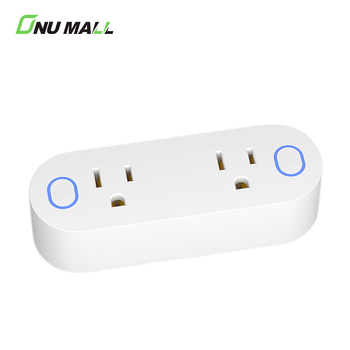 China Manufacturer Seperate Control Double Alexa Smart Switch Plug