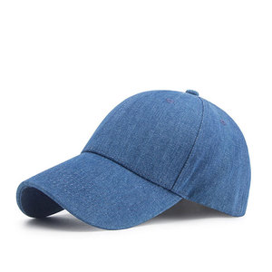 050ddbfb guangdong wholesale washed blue bland plain distressed denim baseball cap 6  panel hats