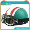 Vintage Style Open Face Half Motorcycle Helmet & Goggles & Visor