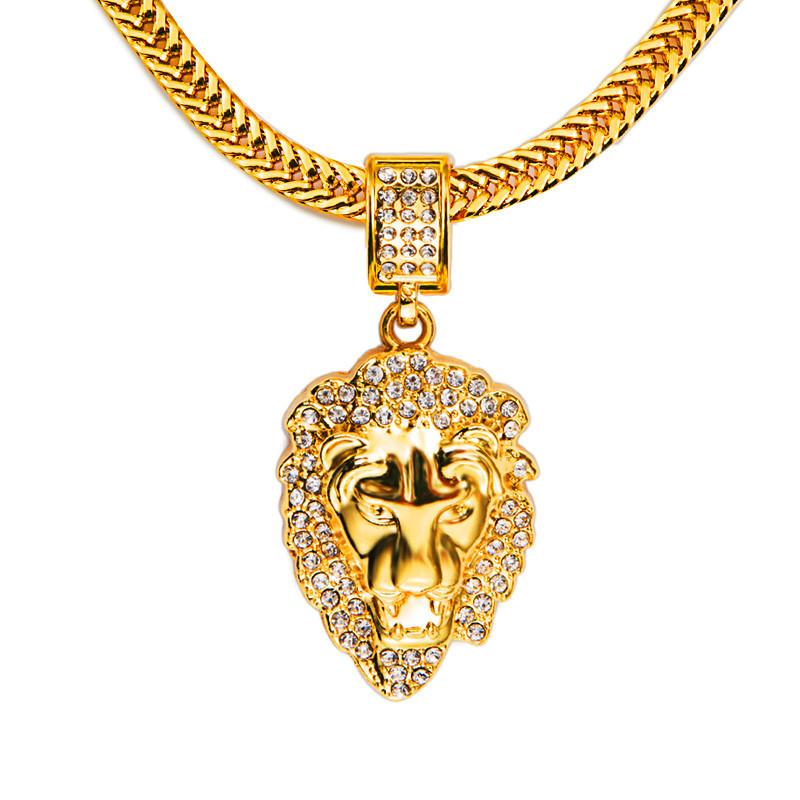 2015 New Fashion 18K Gold Plated CZ Diamond Figaro Lion ...