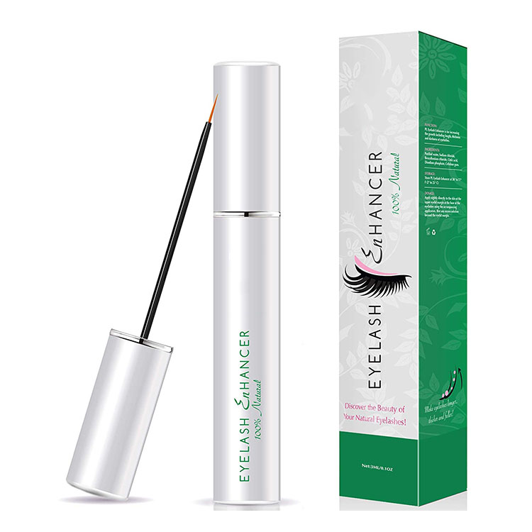 Siero naturale Ciglia Commercio All'ingrosso FDA Private Label 100% Natural Organic Eye Lash Enhancer Siero Crescita Delle Ciglia