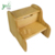 Personalized Natural Bamboo Wood Two Step Stool for Baby Children