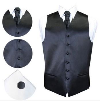 b5b26295d42 Personalizado diseño de la novedad de los hombres chaleco sin mangas  corbata botones traje de tela