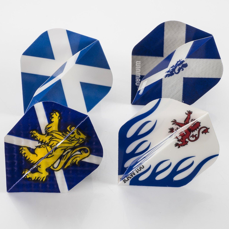 1 x Pack of 4 Sets of Scotland Dart Flights, Standard Shape