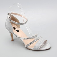 New design women shoes ankle strap high heels crystal sandals ladies dress shoes wedding bride