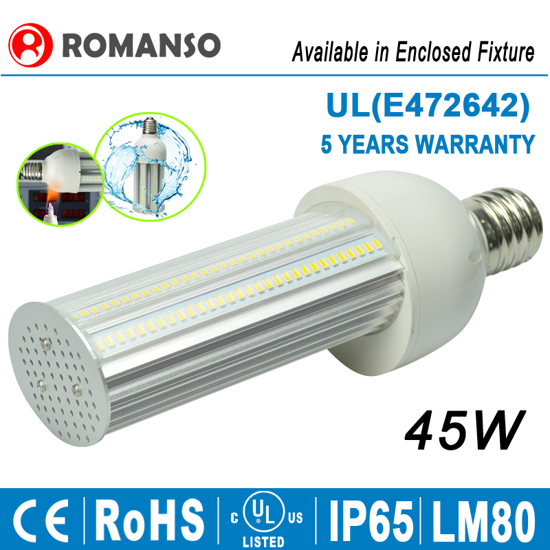 120LM/W IP65 Mogul Base 180 Degree LED Street Corn Bulb Retrofit LED Bulb