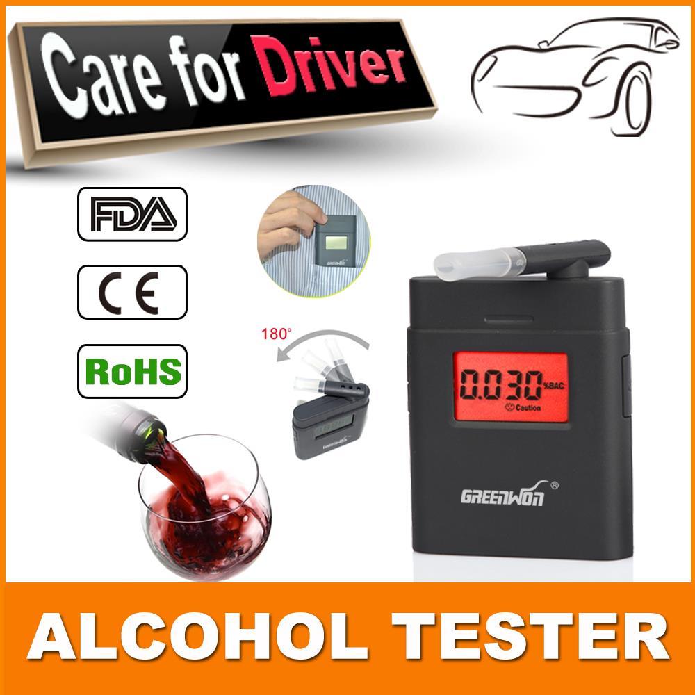 Бесплатная доставка полиция профессиональный алкоголя в выдыхаемом воздухе анализатор тест метр обнаружение алкоголя