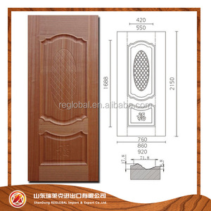 MDF HDF Laminate Wood Teak Ash Moulded Veneer Door Skin