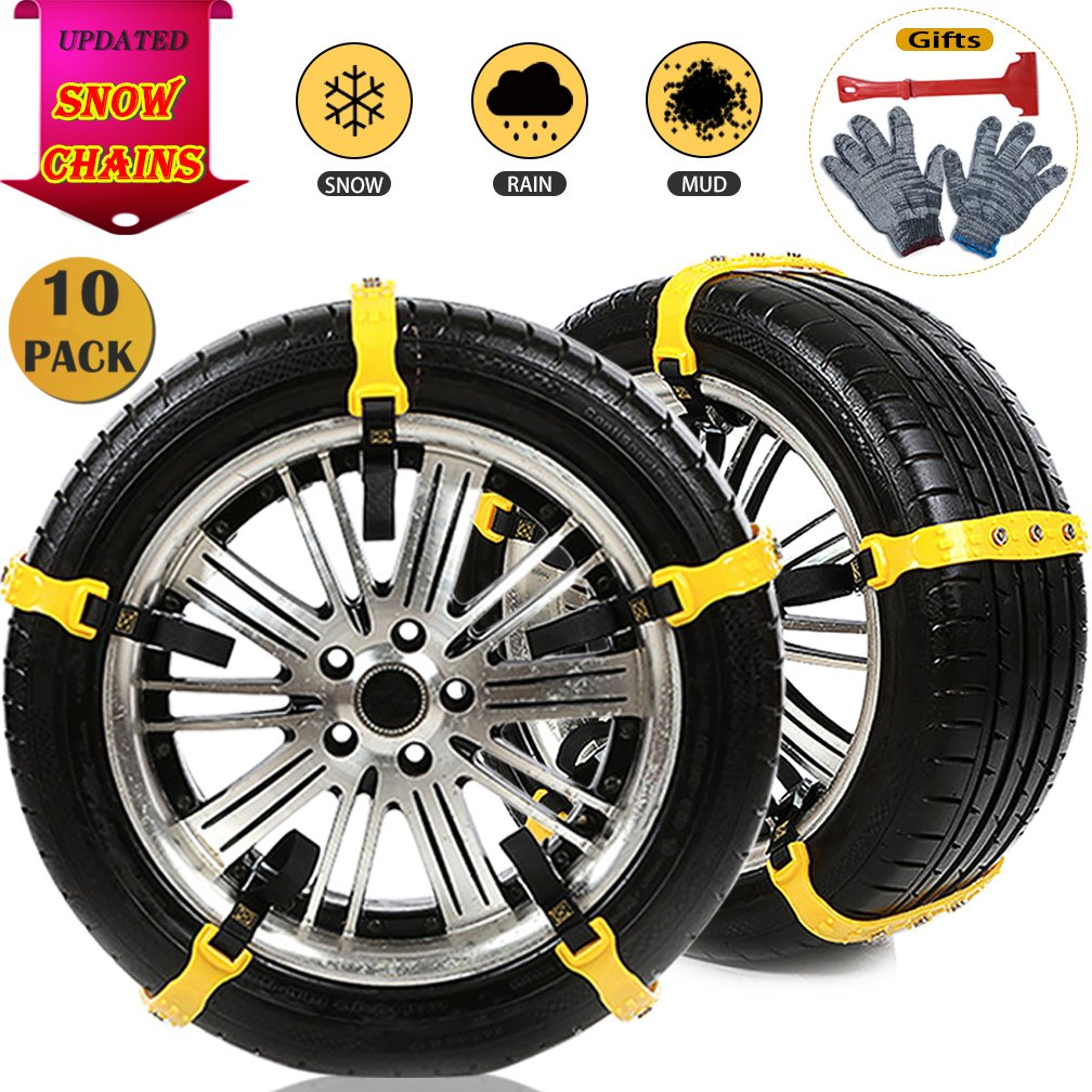 The ROP Shop New Pair 2 Link TIRE Chains 18x8.50x8 for Garden Tractors//Riders//Snowblower