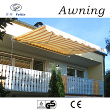 Aluminum motorized canvas awning 4x4 suv with spare parts double side out awning