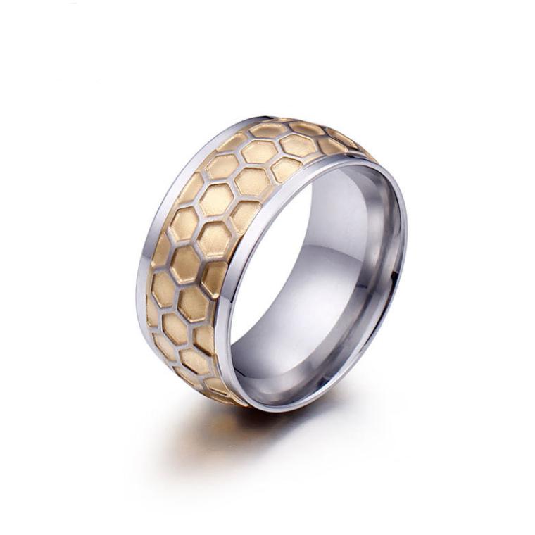 5ce5104e1384 Персонализированные 316L из нержавеющей стали золотые и серебряные кольца  пара