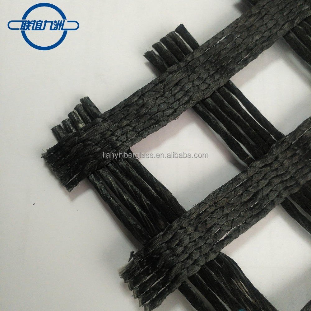 PVC coated uniaxial polyester woven geogrid