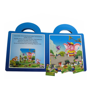 Children cardboard puzzle book printing in China